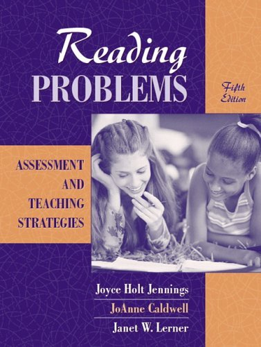 Reading Problems: Assessment and Teaching Strategies by Joyce H. Jennings (2005-10-24)