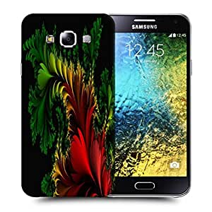 Snoogg Fractal Feathers Abstract Printed Protective Phone Back Case Cover ForSamsung Galaxy E5