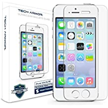 Tech Armor Ballistic Glass Screen Protector with Anti-Fingerprint Coating for Apple iPhone 5/5S
