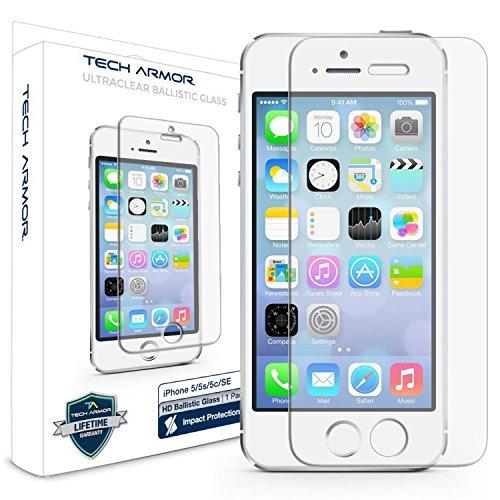 Tech Armor Premium Ballistic Glass   Protector de pantalla para Apple iPhone 5