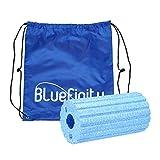 Bluefinity Massagerolle mit Rillen, Selbstmassagerolle 29 cm Lang, 15 cm Durchmesser, für Faszientraining, Gegen Verspannungen, Faszienrolle zur Selbstmassage, Blau