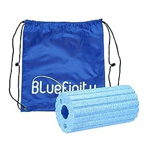 Bluefinity Massagerolle mit Rillen, Selbstmassagerolle 29 cm lang, 15 cm Durchmesser, für Faszientraining, gegen Verspannungen, Faszienrolle zur Selbstmassage
