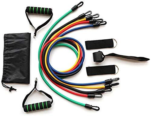 set di cinturini di resistenza da allenamento da 11 pezzi, cinturino di resistenza con maniglia, 5 cinture sportive impilabili, con ancoraggi per porta, cinturini alla caviglia, guide, cinture per u