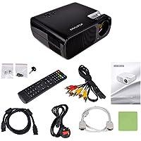Kuman HD black, Proiettore LED Full HD con risoluzione 800x600.