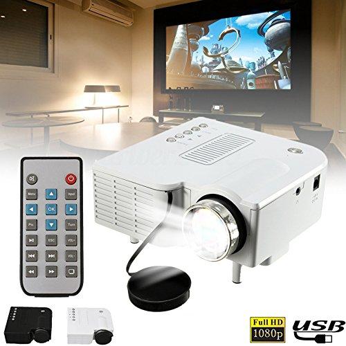 Anyutai (US Stecker) Mini Projektor, UC28B Portable Heimkino Multimedia LED Projektor Unterstützung USB TF Karte