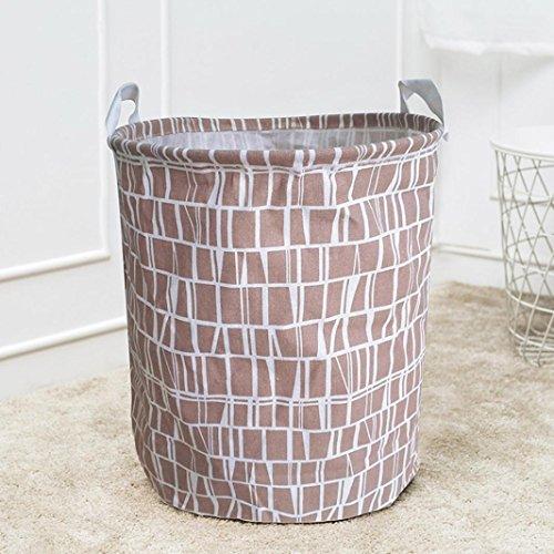 Sale Vêtements Panier Artistic9 (TM) Toile étanche à linge Panier de rangement Boîte de rangement pliable, Coton et lin, E, 44x35cm