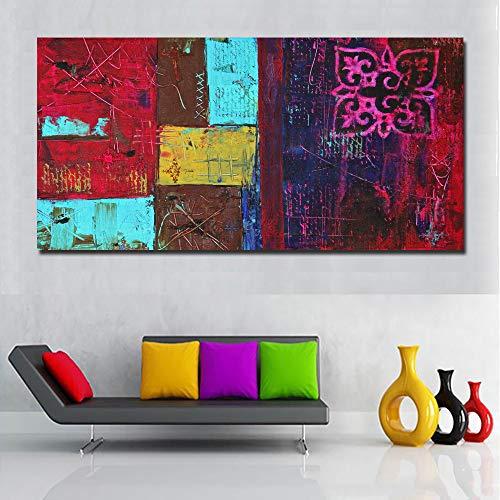 NIMCG Fashion Art Acquerello Animale Elefante Amanti Tela Pittura murale Stampa Artistica Poster tipografico Immagine per Soggiorno Decorazione della casa (Senza Cornice) A4 40x80 cm