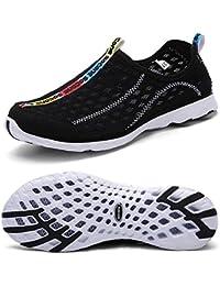 QANSI zapatos mujer zapatillas mujer zapatos deportivos de agua para mujer zapatillas mujer de Running de malla transpirable de agua zapatillas de playa para mujer