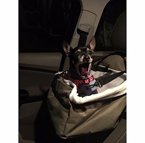 E-FAST Dog Cat Puppy Pet Car Booster Seat Travel Carrier Bag Cage Blanket Sheepskin Lining Chair with Front Zippered 4