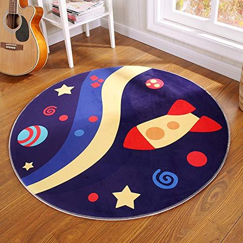 CHENG Teppich Runde Cartoon Kinder Decke 3D Print Zeitgenössische Teppich für Kinderzimmer Haus Schlafzimmer,diameter100cm -