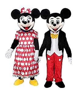 100% autentico goditi un grande sconto acquista originale Sinoocean topolino e Minnie Mouse adulto mascotte costumi ...