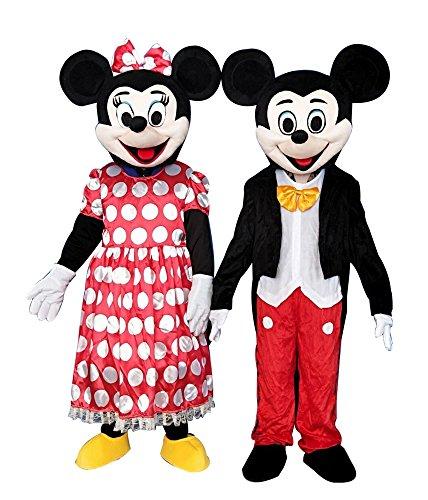 use Maskottchen Kostüm für Erwachsene Fancy Dress Outfit L Mehrfarbig (Minnie Maus Maskottchen Kostüme)