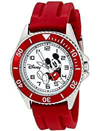 amazon co uk disney watches disney men s w002392 mickey mouse watch red band
