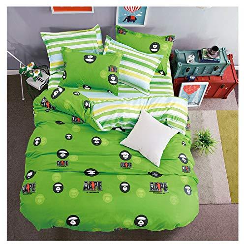 KFZ-Bettwäsche-Set (Doppelbettgröße), Bettbezug, Bettlaken, Kissenbezüge, Keine Bettdecken, MF bedrucktes Design für Kinder und Jugendliche, City Lattice, Multi, Twin 59