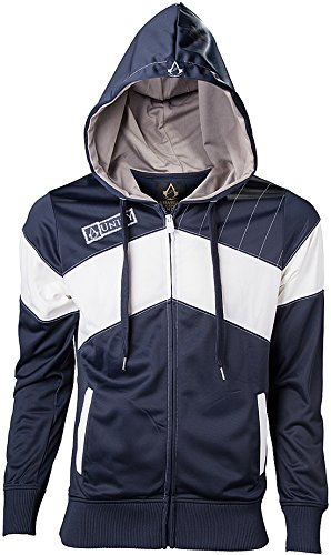 Assassin's Creed Unity Trainingsjacke blau/weiß (Assassins Kapuze Creed)
