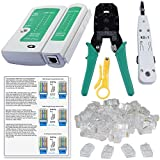#4: SHOPEE BRANDED Rj45 Rj11 Crimping Tool , KD-1 Professional Punch Down Tool, Network Lan Cable Tester, Ethernet Color Coding & 20 Pcs RJ45 Connectors Combo Set