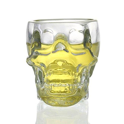 Crystal esqueleto cristal creative lucid 3D chupito fantástico esqueleto de vidrio ideal para vodka Cool