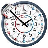 Apprendre à lire l'heure en anglais. Horloge murale « EasyRead Time Teacher...