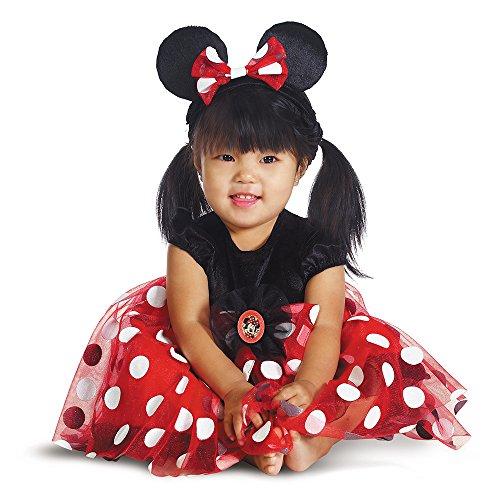 egenheiten DG44958W Minnie Red Baby 12-18 Monate (Minnie Maus Kostüme 12 Monate)
