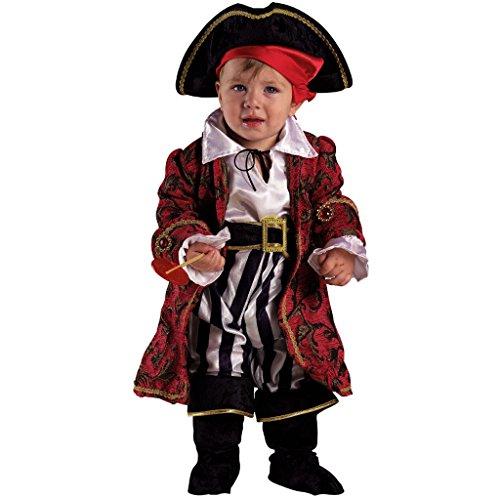 Vestito costume carnevale  baby pirata piratessa deluxe  12 18 mesi