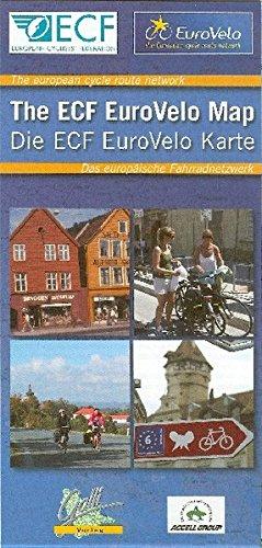 EuroVelo MAP  ECF The european cycle route network /  Das europäische Fahrradnetzwerk: 12 EuroVelo-Routen. 1:4000000 (Fahrradkarte)