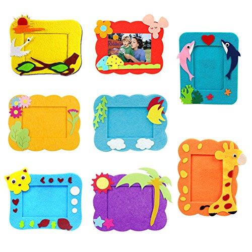 domybest Kinder Kinder DIY 3D EVA-Schaum Spielzeug Early Learning Puzzle Toys Craft Kits Weihnachten Halloween Gifts Bilderrahmen Home Kindergarten Decor (2) (Halloween Craft Kindergarten)