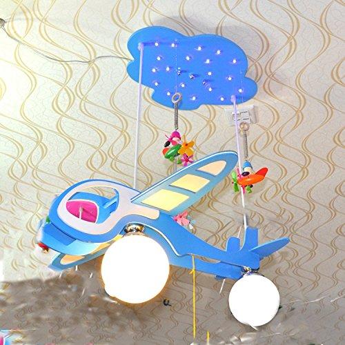 Dual-Saughöhe Flugzeug Kinderzimmerlampe Kronleuchter Kinderwagen Cartoon Jungen und Mädchen mit Schlafzimmer Deckenbeleuchtung - 2