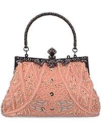 50b7a879e32a Baglamor Mujer Bolso de Vintage Estilo con Cuentas Bolso de Lentejuelas bolso  de Noche Bolsa de Fiesta Bolso de Embrague Monedero para…
