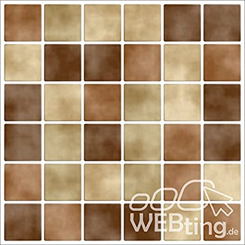 Mosaico marrone piastrelle adesivo piastrelle immagine finta adesivo bagno cucina piastrelle m1 - Immagini Di Piastrella