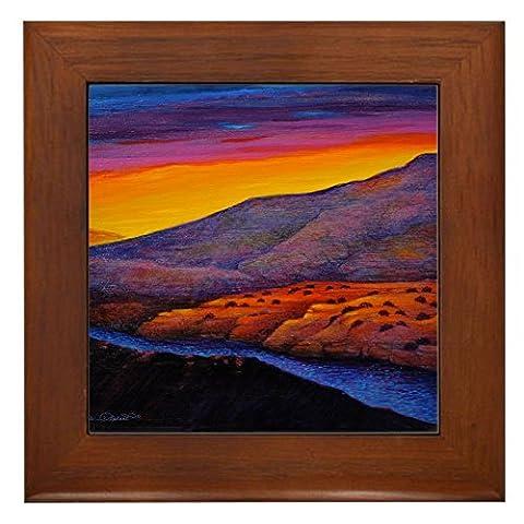 CafePress - California Dreaming - Framed Tile, Decorative Tile Wall Hanging