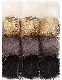 41666c2f9b23 Faux fourrure de renard peluche boule pompon pour bricolage chapeaux  chaussures foulards sac pompons porte-