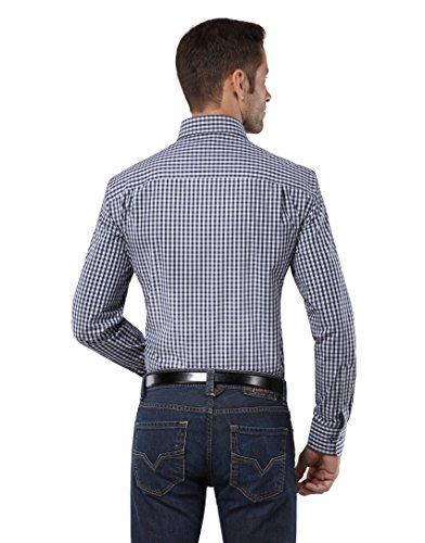 EMBRÆR -  Camicia classiche  - A quadri - Classico  - Maniche lunghe  - Uomo Dunkelblau
