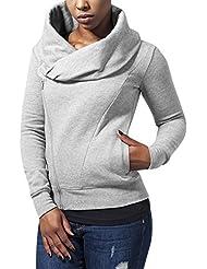 Urban Classics Damen Sweatshirt Ladies Asymetric Zip Jacket