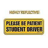 Zento Deals Veuillez être patient étudiant pilote réfléchissant Panneau magnétique Autocollant