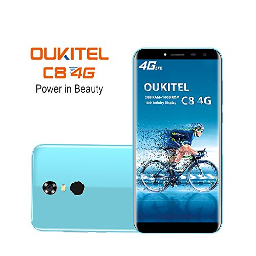 Oukitel C8 4G Smartphone  18 9Pantalla HD  5 5 pulgadas  3000mAh bater  a  Quad Core MTK6737 2GB 16GB  c  mara de 5MP   13MP  Android 7 2 M  viles y s