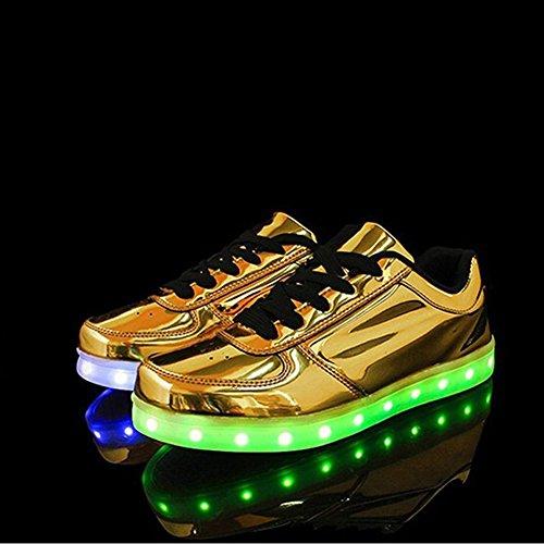 Lampeggiante Ageronger Scarpe Led Unisex Oro Sneaker Carica Oro qIUUwPfW1
