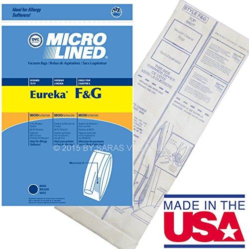 10Allergy Staubbeutel für Eureka Stil F & G Staubsauger F G Sanitaire Commercial (G F Eureka Staubsauger-beutel &)