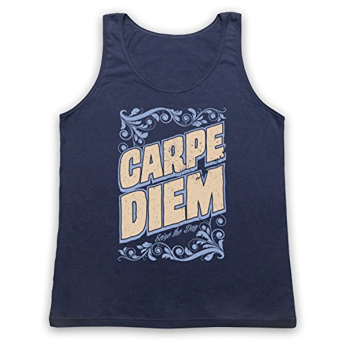 Carpe Diem Seize The Day Tank-Top Weste Ultramarinblau
