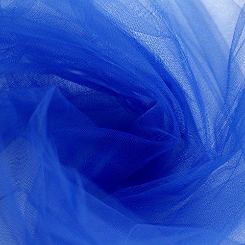 Tüllstoff, Farbe: Royalblau, Breite: 300cm, Meterware,ideal für Ballkleider, Unterröcke, Schleier, Plissee & Rüschen