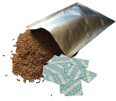 10Dry-Packs 5-Gallonen Mylar Taschen und 10–2000cc oxy-sorb Sauerstoff Absorber für Getrocknete dehydrierte und langfristigen Aufbewahrung von Nahrungsmitteln