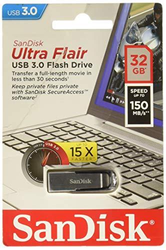 SanDisk Ultra Flair 32GB USB-Flash-Laufwerk USB 3.0 mit bis zu 150MB/Sek.