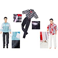 Gazechimp 3 Piezas Fashion Muñeca Ropa Corto con Manga Larga Camiseta y Pantalones para Barbie Ken