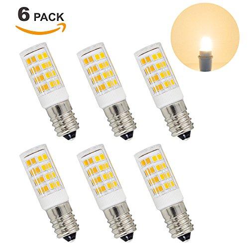 Lamparas Bombillas Pequeña de LED SES Casquillo E14 5W de Bajo Consumo Luz Calida 3000K 400Lm AC220-240V Equivalente a Bombilla Incandescente Halogena de 40W Lot de 6 de Enuotek