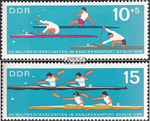 Prophila Collection DDR 1202-1203 (kompl.Ausgabe) 1966 Kanusport (Briefmarken für Sammler) Wassersportarten