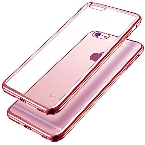 iPhone 6s Custodia, Ubegood Placcatura TPU per Apple iPhone 6 Case Custodia Bumper Cover [Protezione goccia] iPhone 6s/6 custodia protettiva (4,7) Argento Rosa