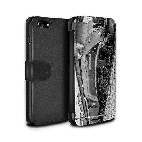 Stuff4 Coque/Etui/Housse Cuir PU Case/Cover pour Apple iPhone 8 / Tornado/Vert Design / Locomotive Vapeur Collection Union South Africa