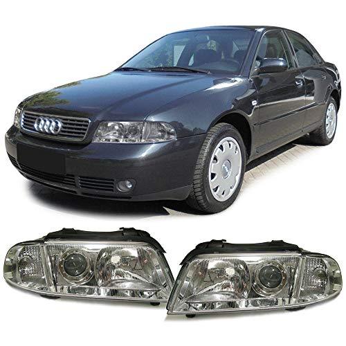 Carparts-Online 10228 Facelift DE Klarglas Scheinwerfer Paar (Audi Scheinwerfer B5)
