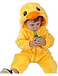 UUstar® Unisex Baby Overall Strampler Jungen Mädchen Tierformen Fleece Overall mit Kapuze
