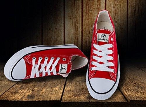 Para Shinmax Vermelha Corte Ocasional Mulheres Unissex E Lace Homens Sapatos A Novas De Sapatilha Toda Temporada Lona Baixo 6qrn6C
