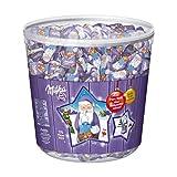 Milka Mini Weihnachtsmänner – Zartschmelzende Alpenmilch Schokolade in der praktischen Vorratsdose – 1540g